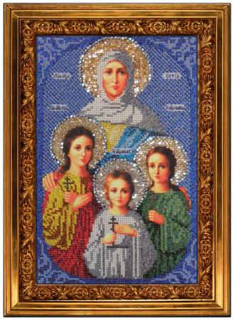 Вышивка крестом икона любовь
