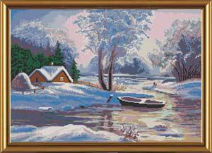 Лодка в снегу
