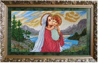 Мадонна и дитя набор вышивки
