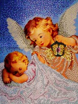 -Ангел Хранитель - схема для вышивки бисером