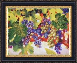 Виноградные гроздья вышивка бисером