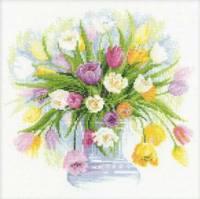 Набор для вышивки крестом - Акварельные тюльпаны