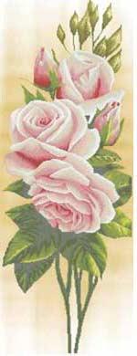 Розы схема вышивки бисером