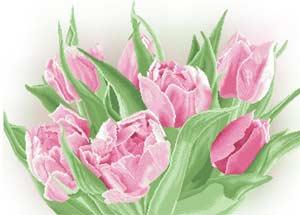 Тюльпаны схема вышивки бисером