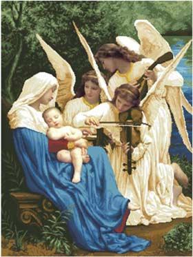 Вышивка крестом песня ангелов