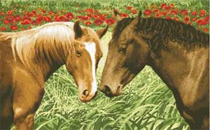 Лошади в поле схема для бисера полная вышивка