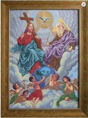 Святая Троица - схема вышивки