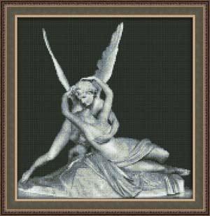 Вышивка крестом Амур и Психея
