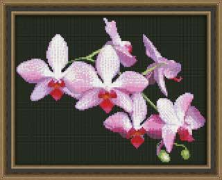 Вышивка крестом Ветка орхидеи
