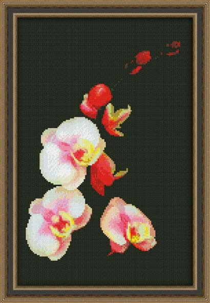 Вышивка крестом Розовая