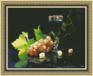 Вышивка крестом Виноград и вино