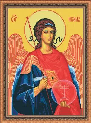 Вышивка крестом икона Архангел