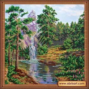 Горный водопад вышивка бисером