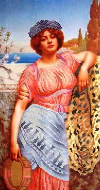 Девушка с бубном схема вышивки бисером РАСПРОДАЖА