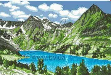 Озеро в сердце гор - схема
