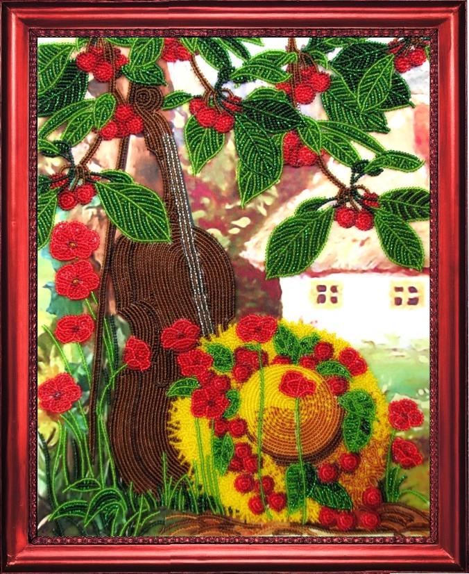 Вишневый сад вышивка бисером