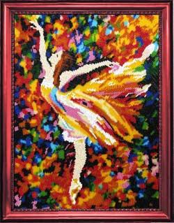 Балерина вышивка бисером