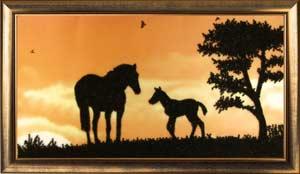 Лошади вышивка бисером