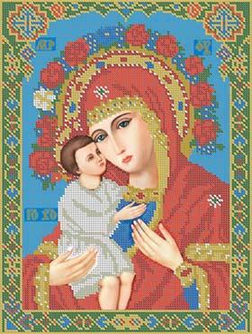 Божья Матерь Жировицкая - схема вышивки бисером