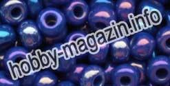 --Бисер 34050 Чехия синий перламутровый