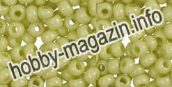 -Бисер 03152 Чехия желто зеленый 5 грамм