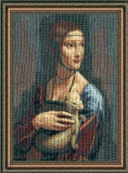 По мотивам Леонардо да Винчи Дама с горностаем