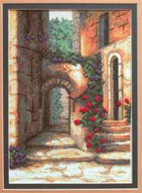 Пейзаж - Дворик с розами
