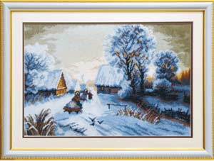 Пейзаж - Зимний закат