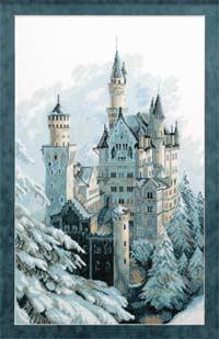 Пейзаж - Замок зимний