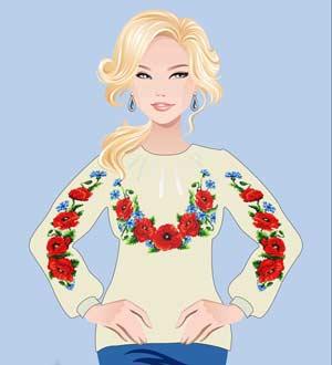 украинская рубашка сорочка вышиванка