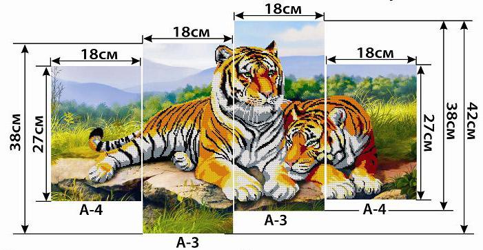 Схемы вышивки модульных картин скачать