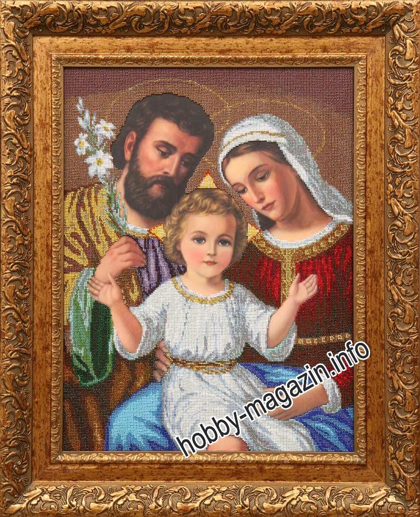 Вышивка икона святое семейство