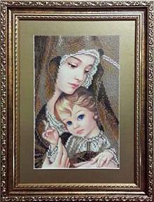 Мадонна з дитям (сепія)