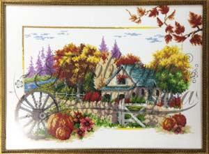 Сезоны - Осень схема вышивки бисером