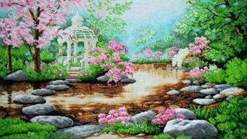 Цветущая сакура (Альтанка) - полная вышивка бисером схема