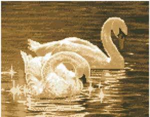 --Лебеди (сепия)