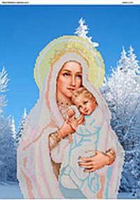 Дева Мария в зимнем лесу - схема