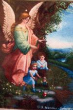 Схема вышивки крестом - Ангел-Хранитель